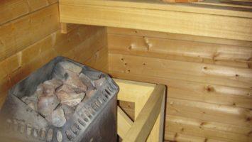 Saunaofen mit Steinen